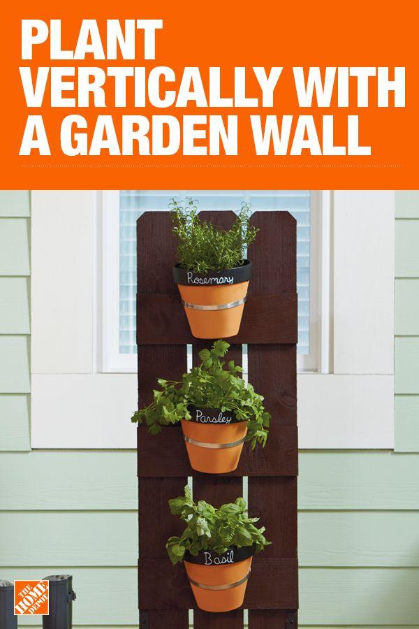 How to Make a Vertical Garden Wall | Outdoor Living | Vertical ... Home Depot Vertical Planter Project on home depot plant labels, home depot herb planter, home depot flower tower, home depot soil test kits,