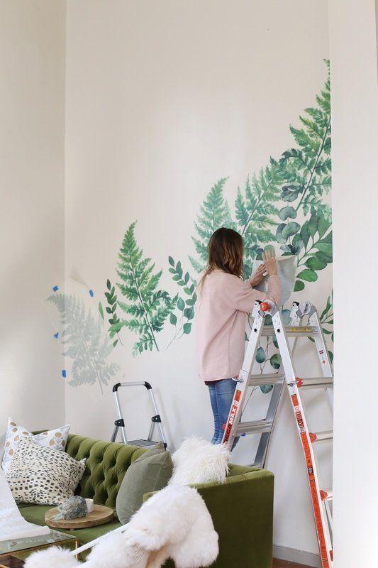 ferns and eucalyptus wall decal   nursery   pinterest   ferns, wall