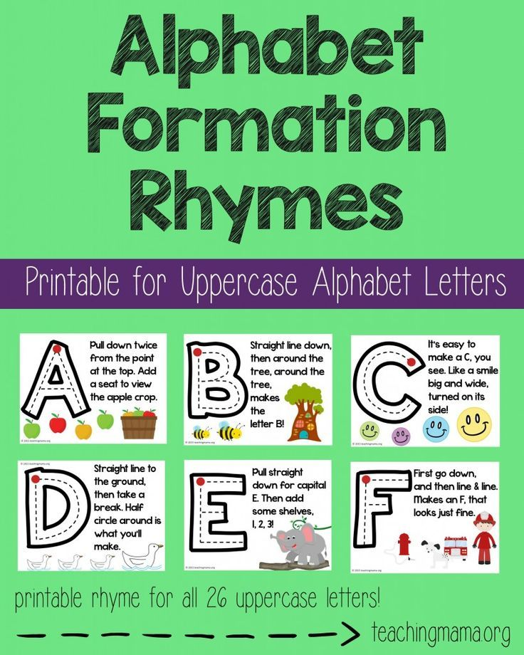 Alphabet Formation Rhymes- Pin                                                                                                                                                     More