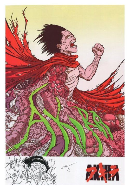 """""""Tetsuo's Nirvana"""" by Steve Mardo / Tumblr / Twitter / Instagram / Store  13"""" x 19"""" digital print, S/N edition of 10. Each print has unique black & white detail at bottom. Available HERE.  Part of the Crazy 4 Cult 11 art show at Gallery1988."""