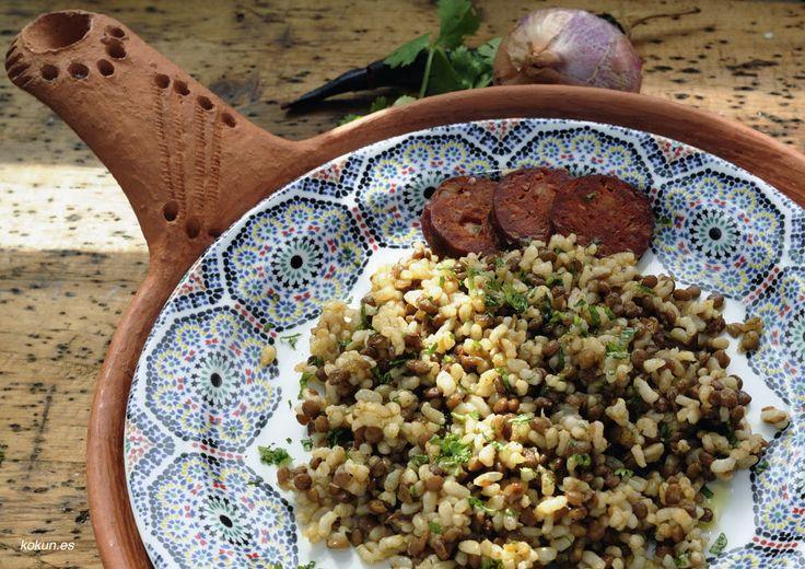 Arroz con lentejas, comida tradicional con espíritu.#macrobiótica #arrozconlentejas #arroz #lentejas