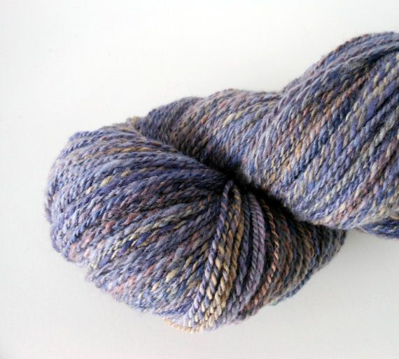 Fields of Lavender is a DK-light worsted weight finn wool handspun 2 ply yarn by EarthMother Designs