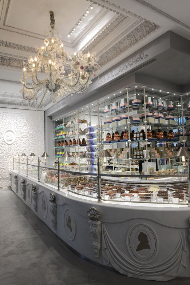Inside the new LES MARQUIS DE LADURÉE PARIS... Ladurée's new chocolate-centric boutique