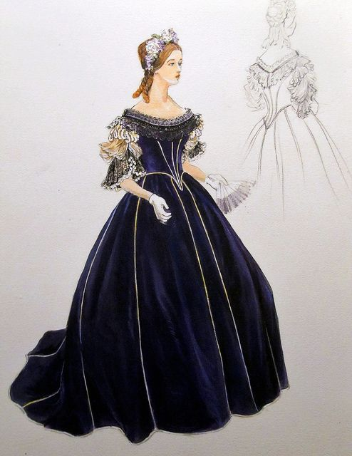 Mary Todd Lincoln | Flickr - Photo Sharing!   A sketch at the Smithsonian American History Museum of a possible design by Elizabeth Keckly for Mary Todd Lincoln's evening bodice to wear with the purple skirt she designed for Mrs Lincoln.