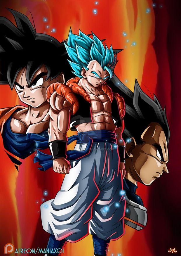 La Fusión De Goku Y Vegeta Gogeta Dbz Db Dbs Dbsuperbroly