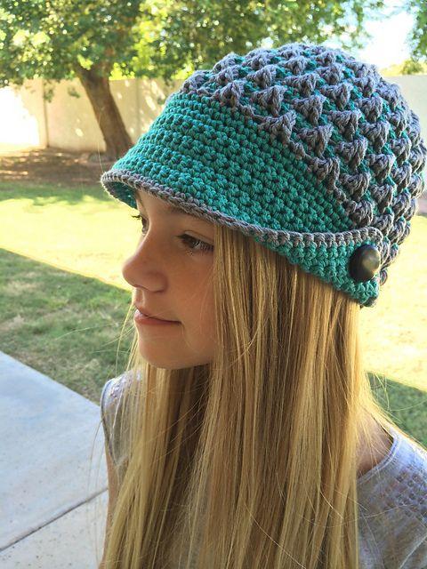 Peaked Cap Knitting Pattern : Ravelry: josiesmoms Maria Womens Peaked Cap by Patons http://www.ya...