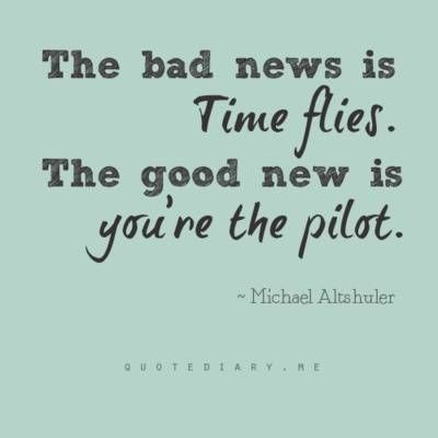 time flies but you are the pilot