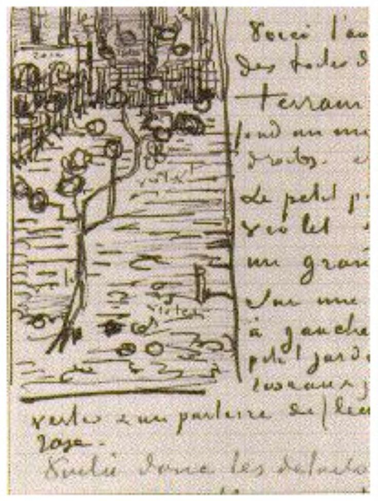 Little Blossoming Pear Tree Vincent van Gogh   Letter Sketches,   Arles: 13-Apr, 1888 Van Gogh Museum  Amsterdam, The Netherlands, Europe  F: ;477, ;JH: ;1395