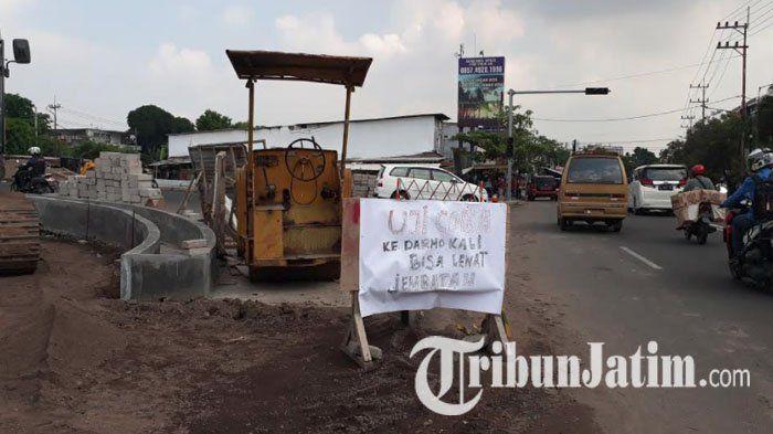 VIDEO: Pengerjaan Telah Capai 90 Persen, Jembatan Ratna Surabaya Diuji Coba