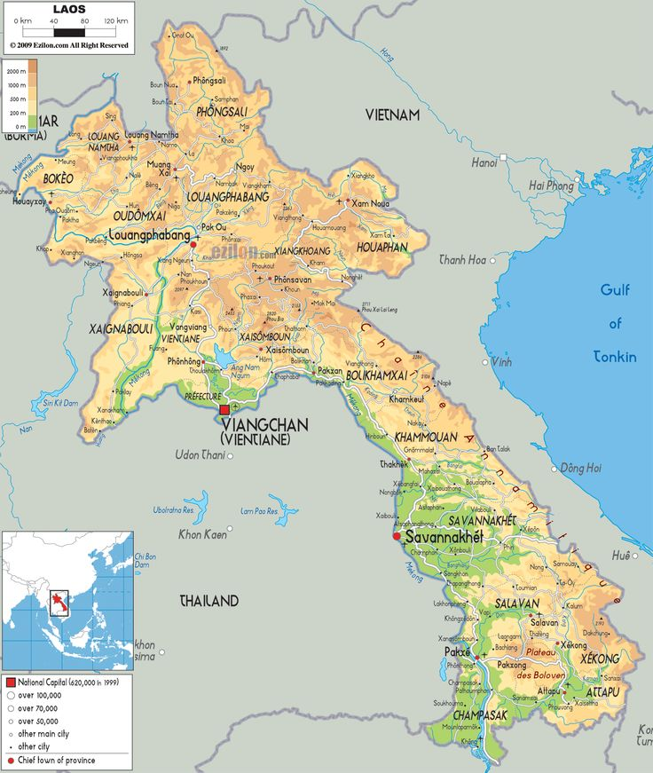 laos | Map of Laos and Laos Physical Map