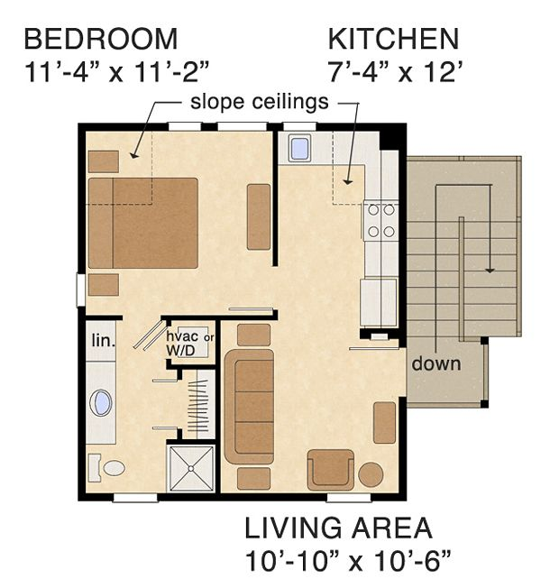 17 best images about basement apartment on pinterest for Small garage apartment