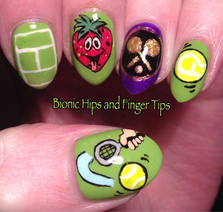 10 best tennis nails images on pinterest nail arts nail designs wimbledon nail art prinsesfo Image collections