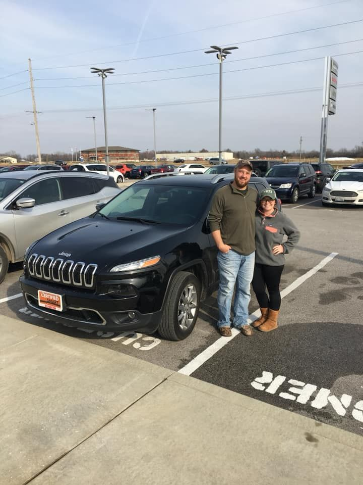 Congratulations Samantha And Michael On Your New Jeep Cherokee From All Of Us At Staunton Chrysler At Staunton Chrysler Dodge Jeep Jeep New Jeep Cherokee