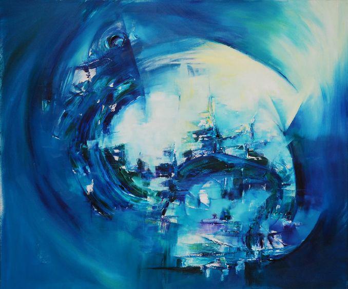 """""""Formas envueltas"""" - Silvia Hilerowicz - Oleo sobre tela - 100 x 120 cm  www.esencialismo.com"""