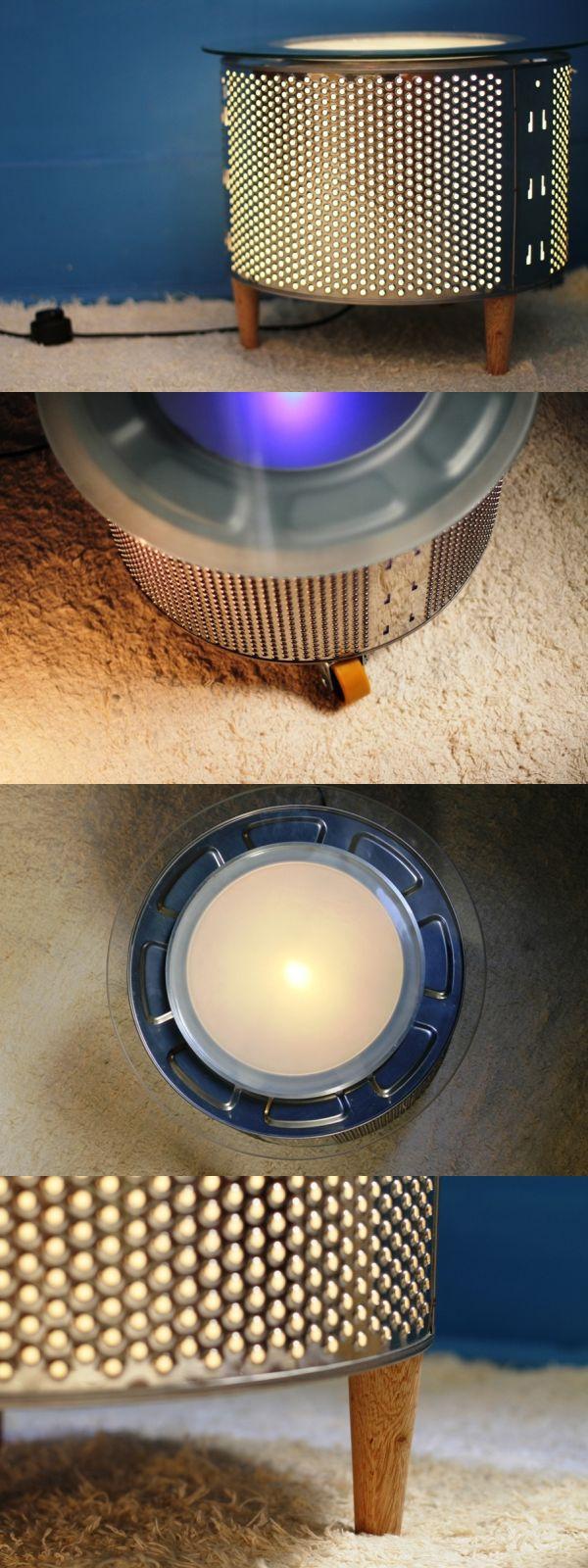 Algunas formas de reciclar el tambor de una lavadora / mesa JOUR