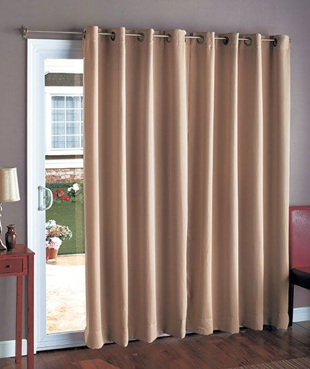 "112"" Wide Blackout Patio Curtain 