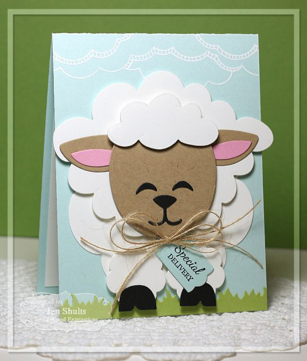 68 best cards easter sheep images on pinterest sheep easter and special delivery by jen shults handmade card m4hsunfo Image collections