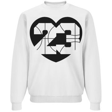 Trendy B-Ball Basketball Girlfriend Sweatshirt you can personalize. Great for showing your march madness!