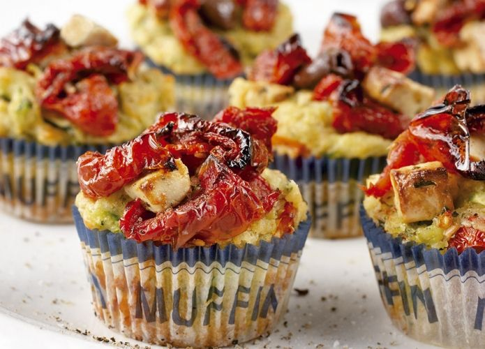 Mediterranean muffins - savoury muffins perfect for brunch - w/ mixer timing