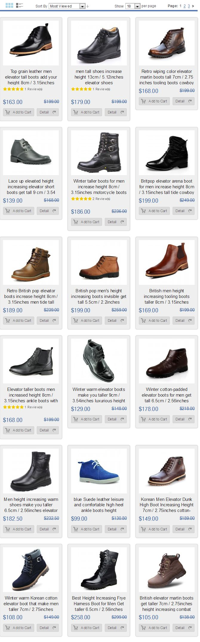 Most reviewed men elevator boots shoes at topoutshoes.com