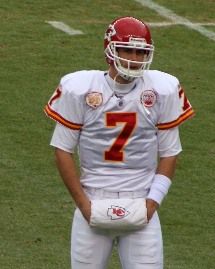 This is a picture of Alex Smith as the Kansas City Chiefs Quarterback.  This picture was used to identify him.