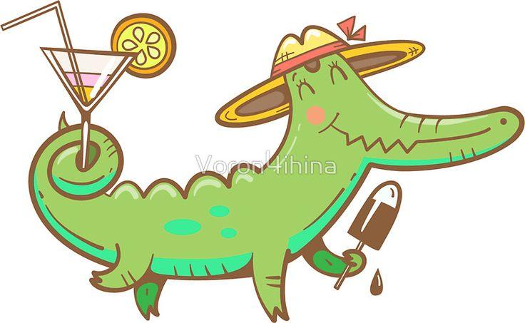 Card with crocodile.