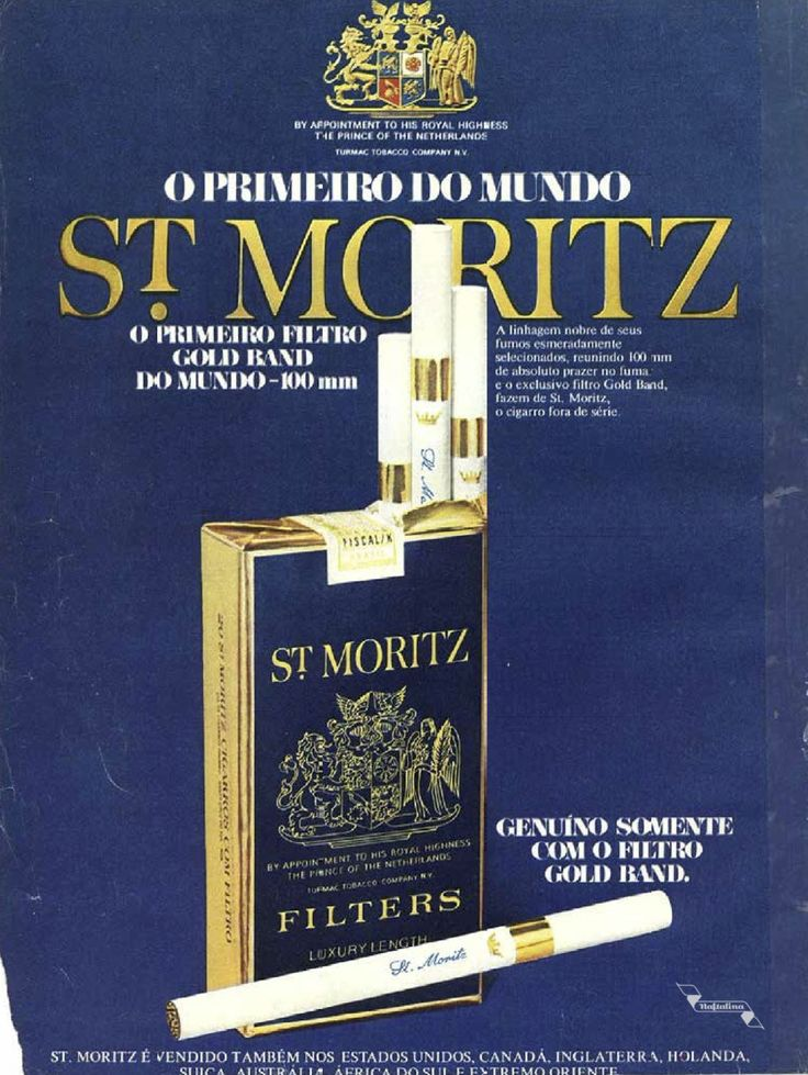 Cigarros St. Moritz #Brasil #anos70 #BrasilRetro