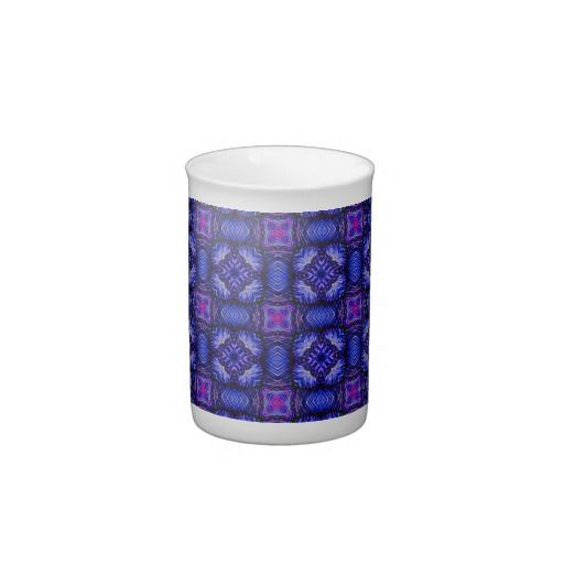 Blue pink purpel checked plaid pattern No1 Porcelain Mugs