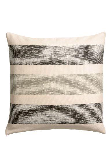 Canvas cushion cover - Green/Multicoloured - Home All | H&M GB 1