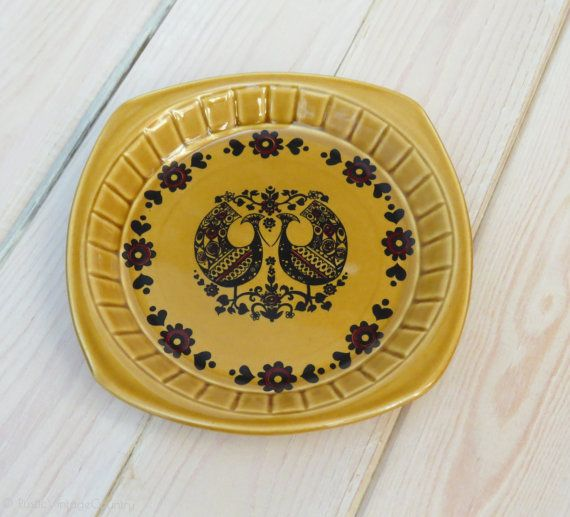 Palissy Serving Dish and Spreading Knife Set, boxed - Palissy - Retro Design - Retro Dish - Vintage Palissy - Scandinavian Design