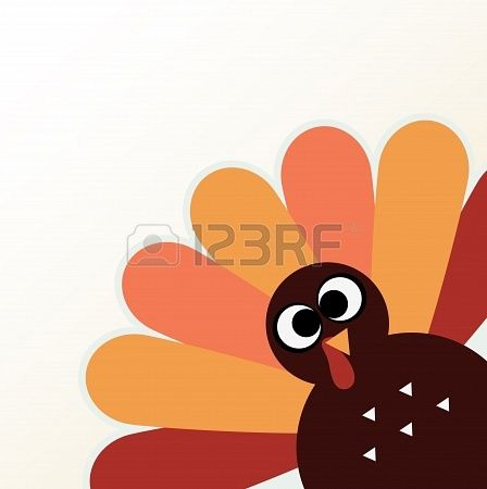Happy Thanksgiving day with colorful funny Turkey  Vector Illustration