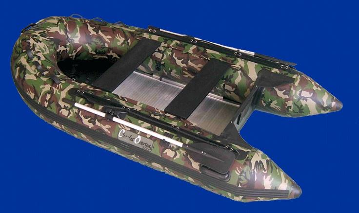 Bateau pneumatique camouflage pour la pêche