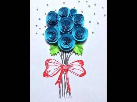 Paper Roses Bouquet : Bouquet de rosas de papel : Букет из розовых роз - YouTube