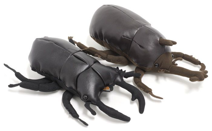 Giant Stag Beetle Stuffed Plush Leather Insect Animal Doll