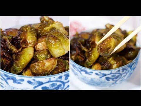 Crispy, sticky, sweet –TheseRoasted Brussels Sprouts with Sweet Soy Glaze wi…   – Brussel sprouts