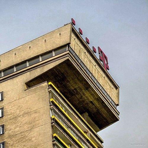 """PUMA"" Apartment building,  Powiśle, Warsaw, Poland built between 1964-76 Architects: Jan Bogusławski  Bohdan Gniewiewski"