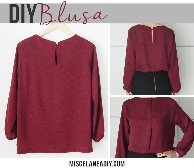 DIY sewing | Basic blouse | Blusa básica con mangas