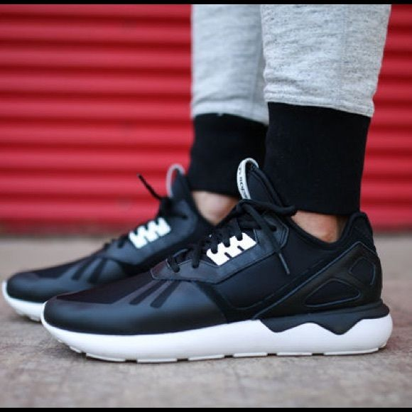 Adidas Tubular runners black & white men's 7.5 Adidas Tubular runners black & white men's 7.5 (fits like a women's 9-9.5). Worn twice and in great condition! Adidas Shoes Athletic Shoes