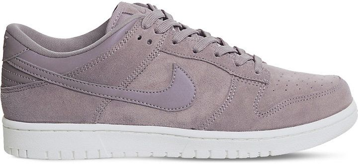 Nike Dunk low suede trainers