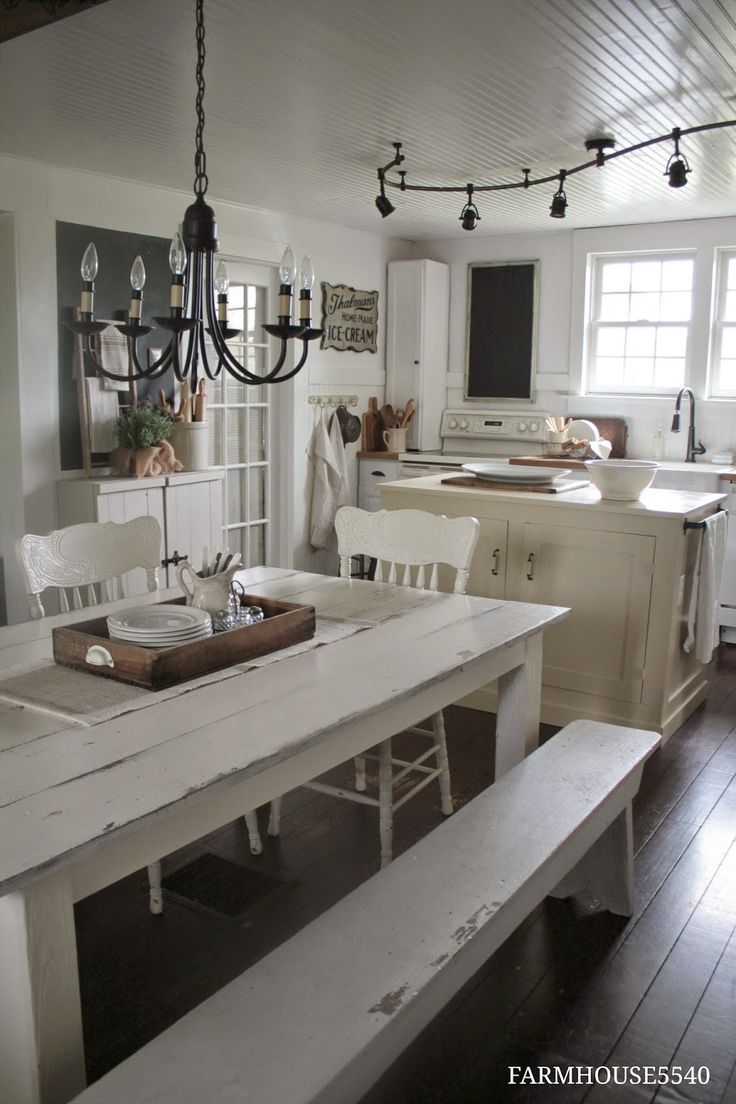 white painted farm chairs, FARMHOUSE 5540: Farmhouse Friday ~ Farmhouse Kitchen
