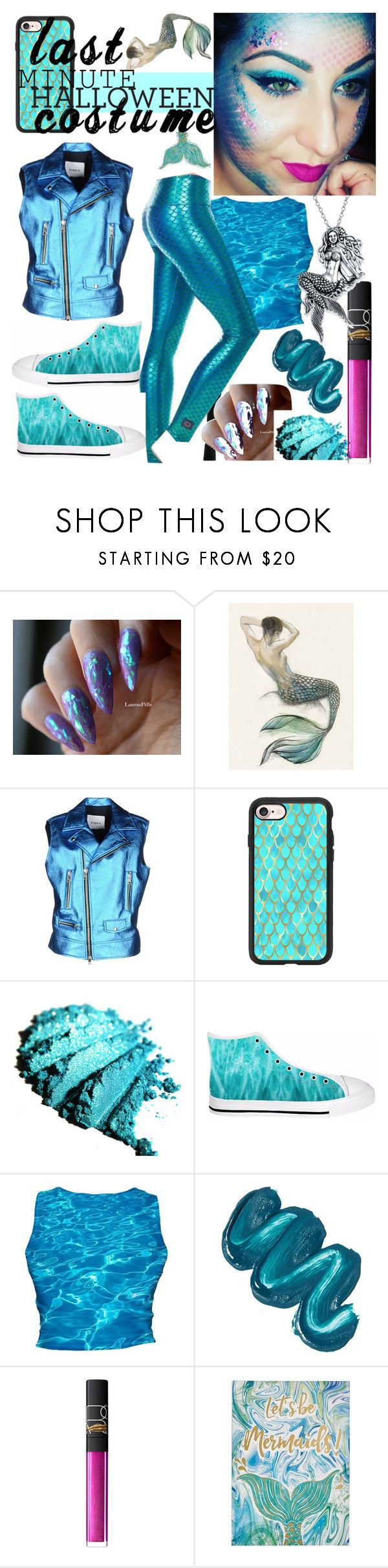 """""""Last-minute Costume"""" by mdfletch ❤ liked on Polyvore featuring AINEA, Casetify, Purusha People, Mermaid Salon, NARS Cosmetics, Graham & Brown, Bling Jewelry and lastminutecostume"""