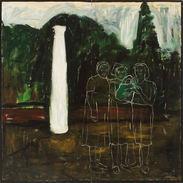 László Fehér (Hungarian, b. 1953): Untitled (Mementos from Dég Series), 1985. Oil on wood-fibre, 250 x 250 cm. © László Fehér.