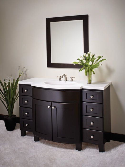 Best Vanity Inspiration Images On Pinterest Vanity Bathroom - Semi custom bathroom cabinets for bathroom decor ideas