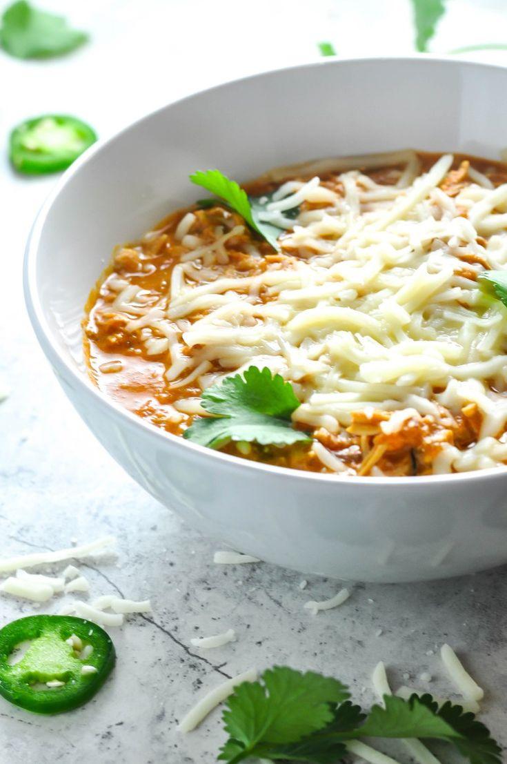 Shredded Chicken Chili Recipe (keto)