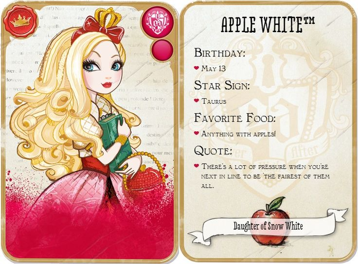 Apple White is my twin !!!! EVEN THOUGH IM NOTHING LIKE HER!!!!!  were kinda like poppy and holly then twins but nothing alike