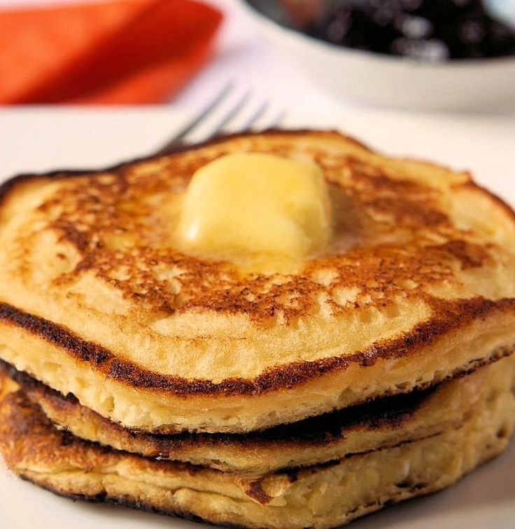 I was a bit leery about using cheese in pancakes, but sure glad I gave it a try! http://www.cautiousvegetarian.ca/recipe/lemon-ricotta-pancakes/