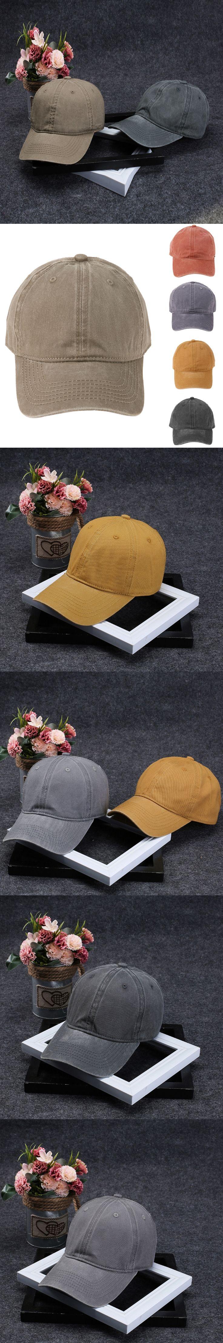 Unisex Adjustable Solid Color Baseball Cap Women Fashion Casual HAT Boys Snapback Hats Casquette Hip Hop 2017 Couple Wash Caps