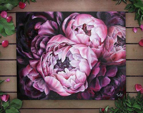 Exquisite und zarte Ölgemälde von Diana Tuchs Autodidaktisches Kunsthandwerk a… – Canvas