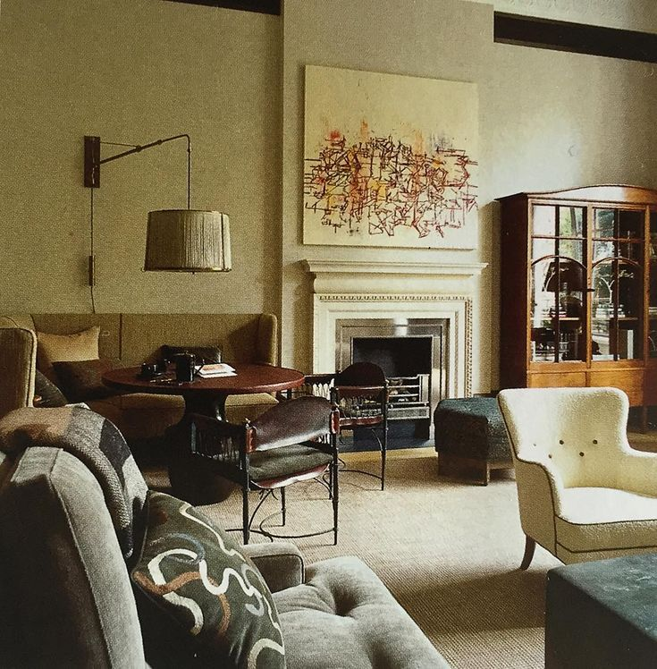 """INSPIRATIONAL INTERIORS: The final instalment of the Jonathan Reed designed London flat, as seen in The World of Interiors. The reception room; the…"""