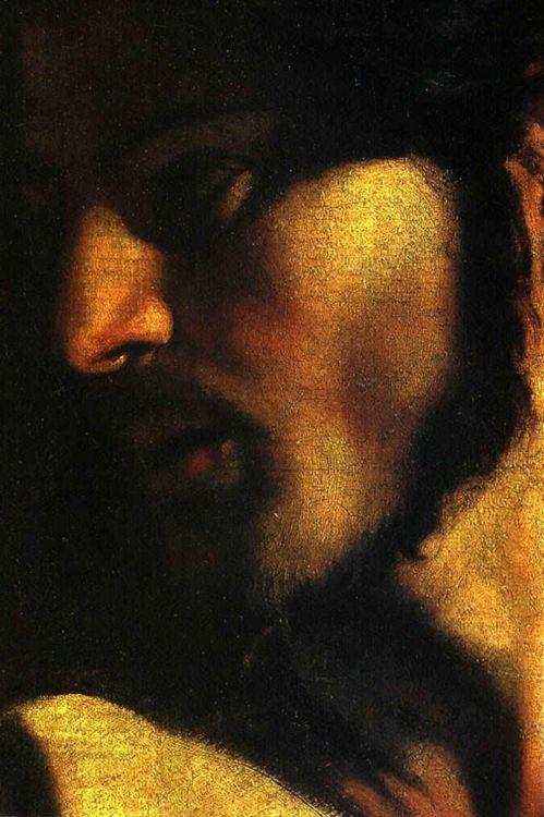 wasbella102:  The Calling of St. Mathew - Christdetail,1599-02  Caravaggio  artemisdreaming: